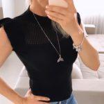 Blusa Feminina Tricot Modal Preta
